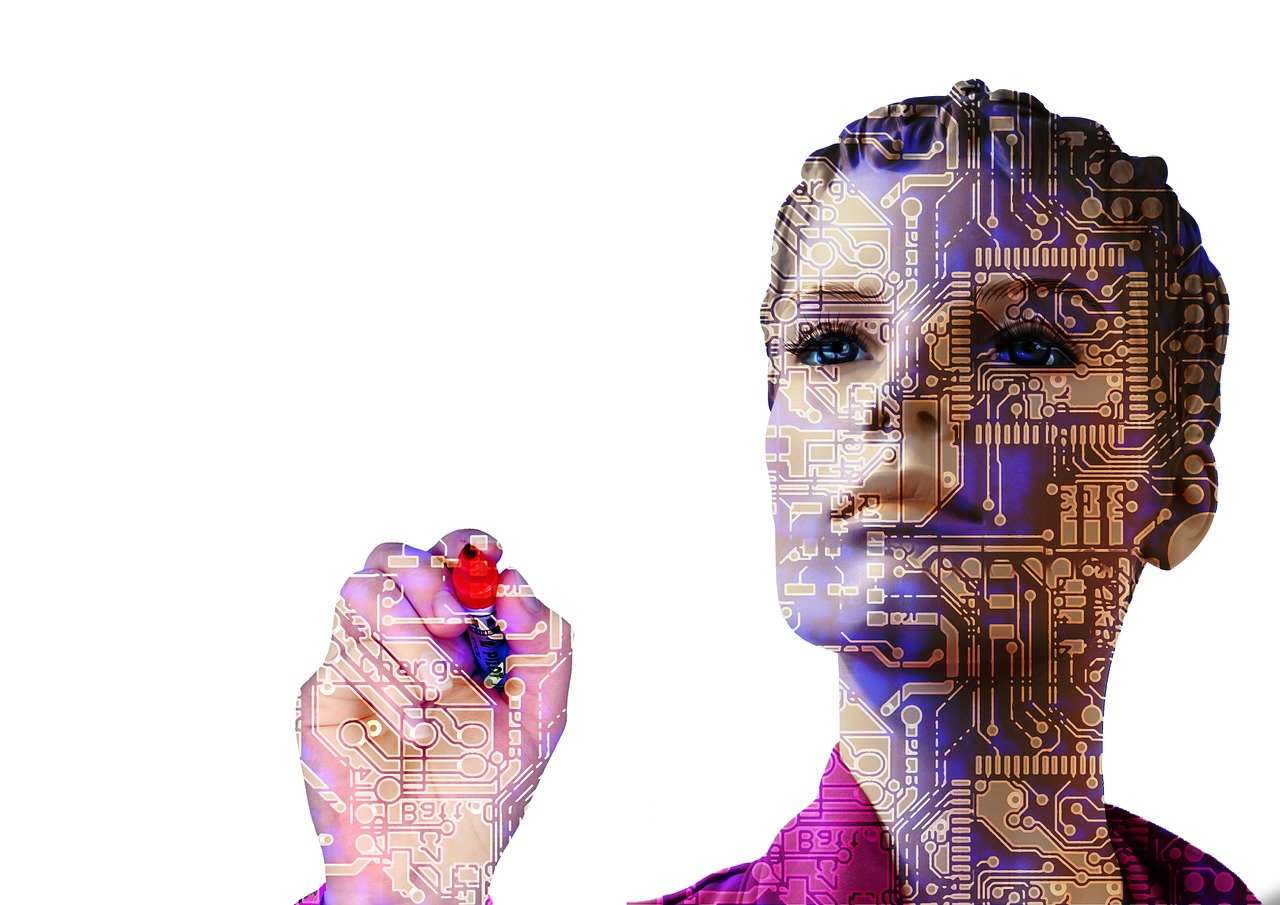 Forward Woman Artificial Intelligence Robot