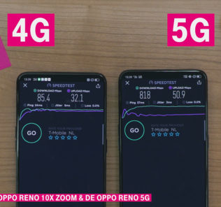 T-Mobile 5G Oppo proef